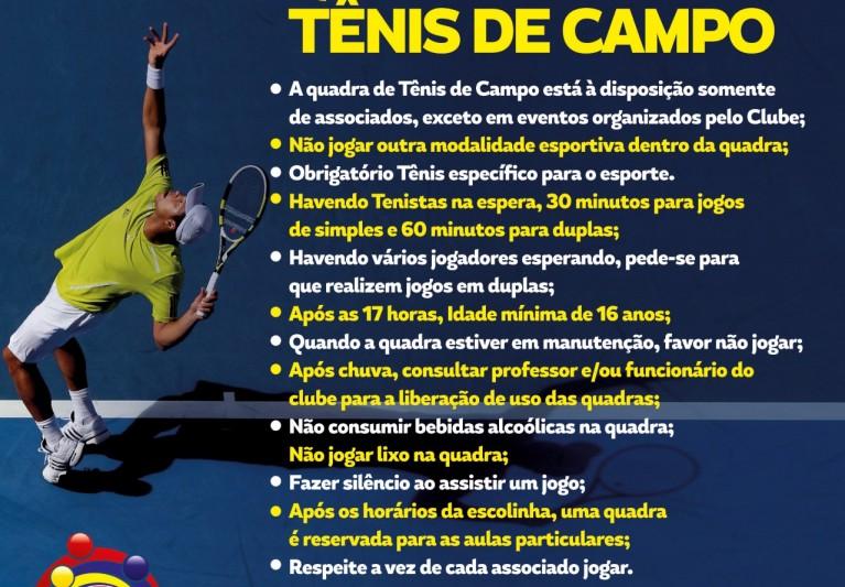 Regulamento da Quadra de Tênis de Campo