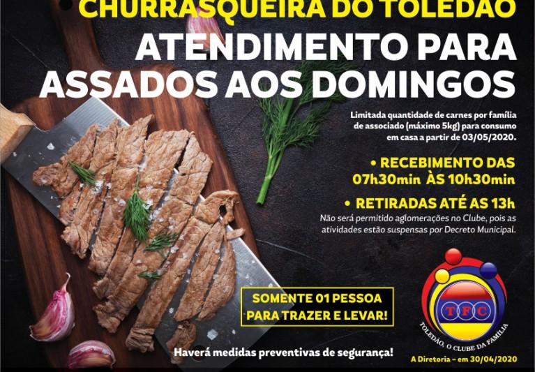 CHURRASCO DE DOMINGO GARANTIDO!!